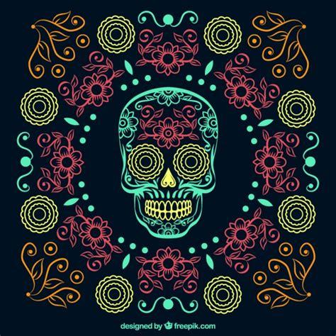 dise 241 o de calavera mexicana descargar vectores gratis fondos de pantalla fiesta dia de muertos day of the dead
