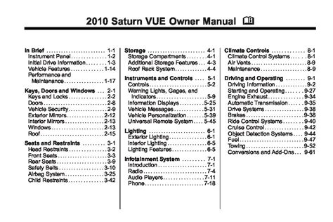 download car manuals 2010 saturn vue electronic throttle control service manual 2010 saturn vue user manual saturn vue 2004 2010 owners manual user manual