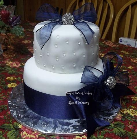 Wedding Cake Navy by Navy Blue White Wedding Cake Cakecentral