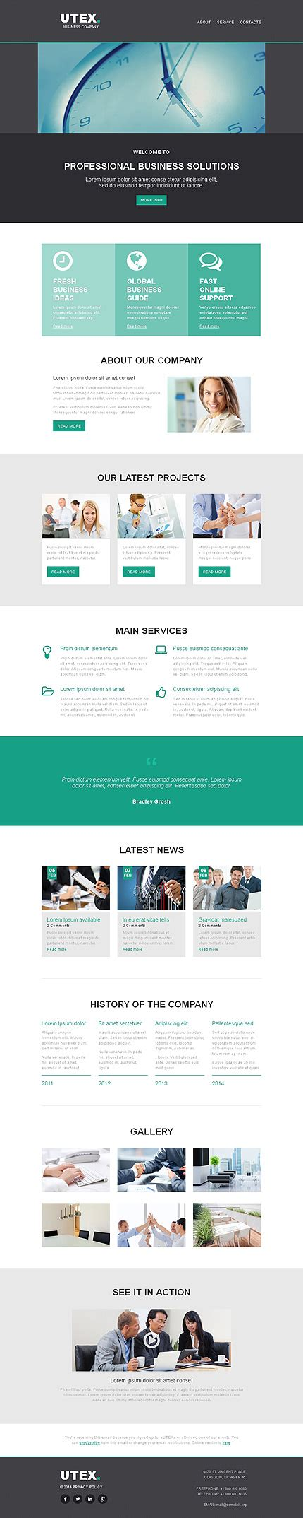 Responsive Newsletter Templates For Effective Email Marketing Entheos Responsive Html Newsletter Template