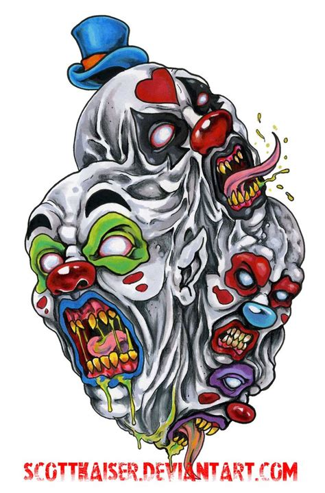 wicked clown tattoo designs 149 best images about evil clowns on the