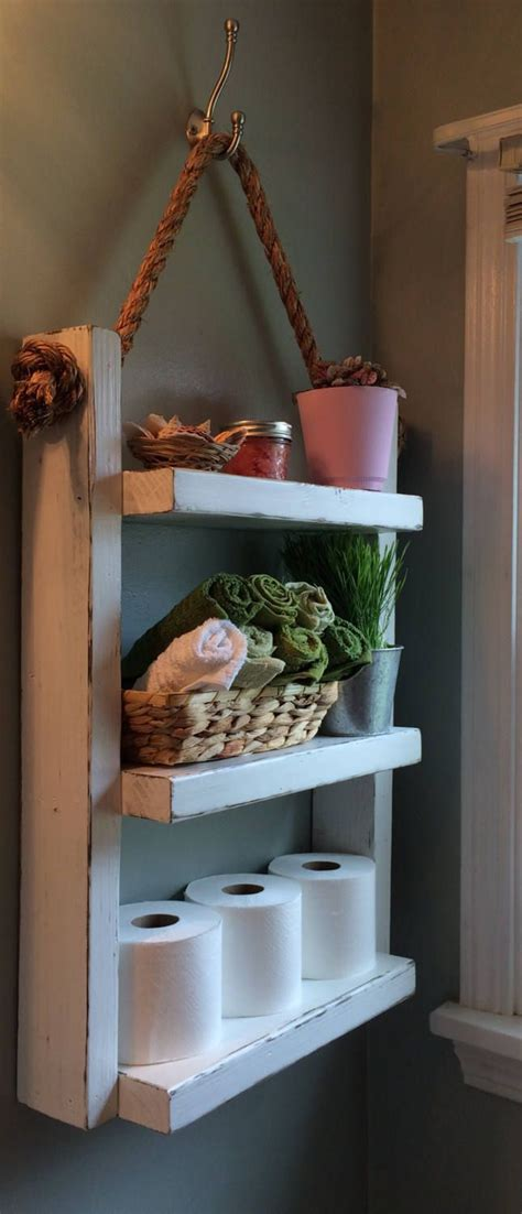 hanging bathroom shelves 25 best ideas about wooden ladder shelf on