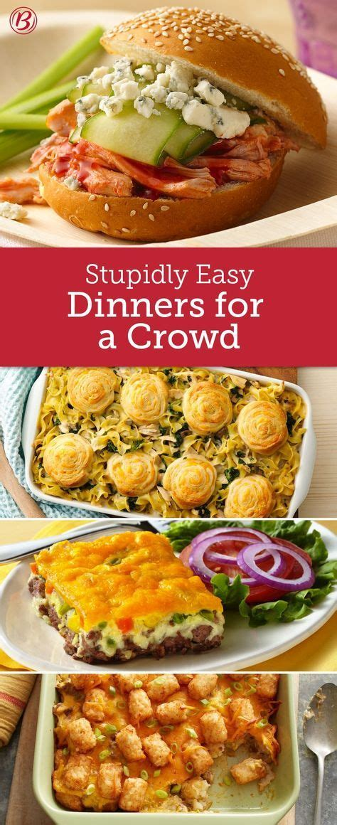easy crowd size dinners cooking   crowd food