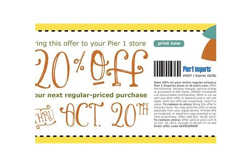 printable coupon pier 1 imports