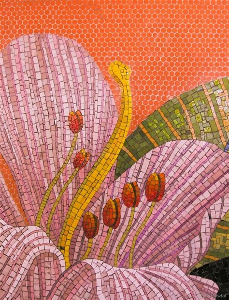 mosaic lily pattern 1000 images about mosaics flowers on pinterest mosaic