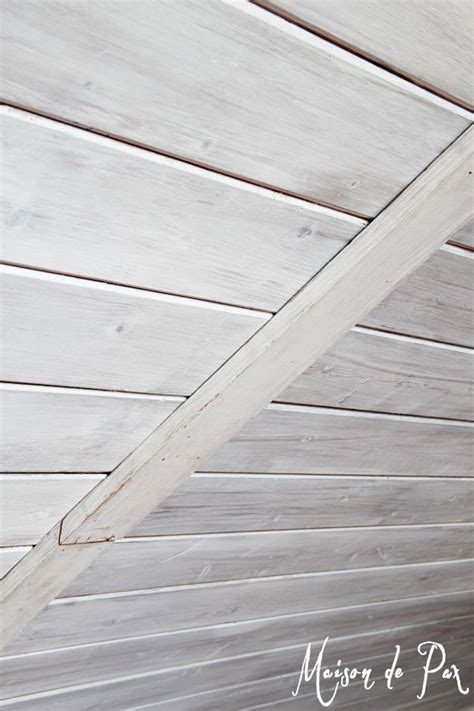 Painted Wood Ceiling by 25 Best Ideas About How To Whitewash Wood On