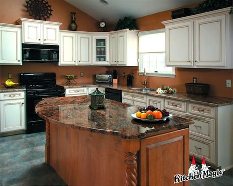 Kitchen Cabinet Refacing Island by Refaced Kitchen Boasts New Island With Granite Top