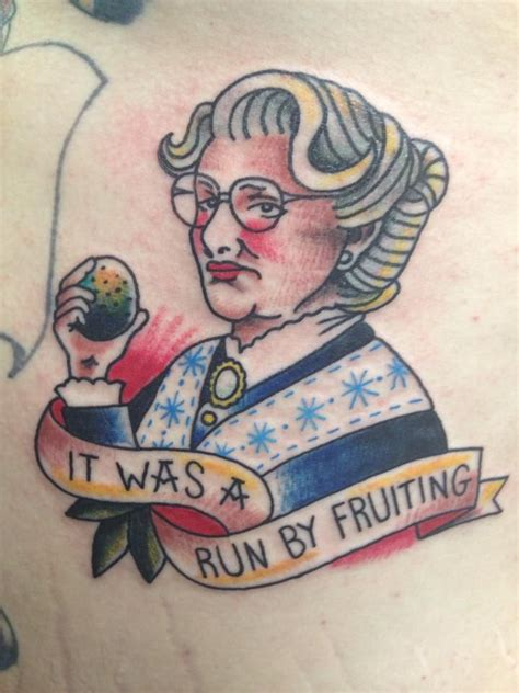 robin williams tattoo this mrs doubtfire is the strangest robin