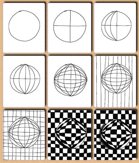 tutorial gambar optical art tutorial op art optical illusion quilts pinterest