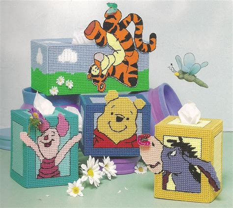 Tutup Tissue Basah Winnie The Pooh Tissue Cover 1 pooh collection tissue box covers winnie the pooh tigger eeyore piglet turtle plastic canvas