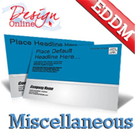 every door direct mail templates and eddm postcards