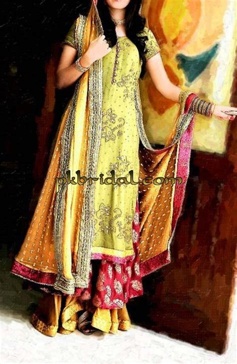 Mehndi Dresses   Pakistani Wedding Dressess