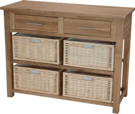 inspire oak basket console table default store