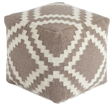 grey pattern pouf geometric gray white pouf from ashley a1000418 coleman