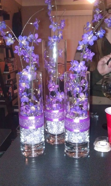 Martini Glass Vases Light Up Centerpieces Wedding Ideas Pinterest