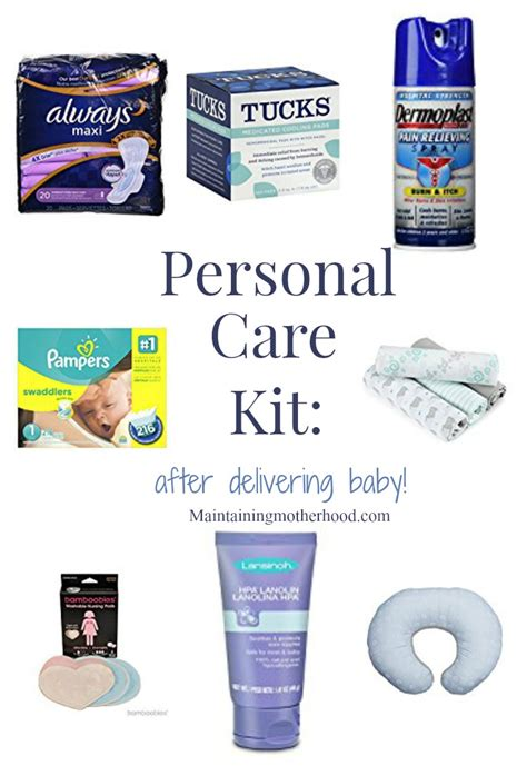 personal care kit after delivering baby maintaining