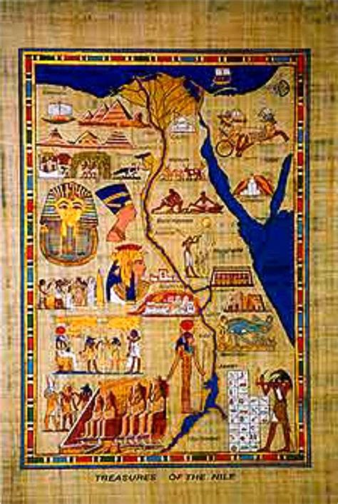 Map Of Ancient Egypt Egyptian Papyrus Pinterest
