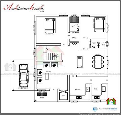 Low Cost 4 Bedroom House Plans low cost 3 bedroom kerala house plan with elevation free