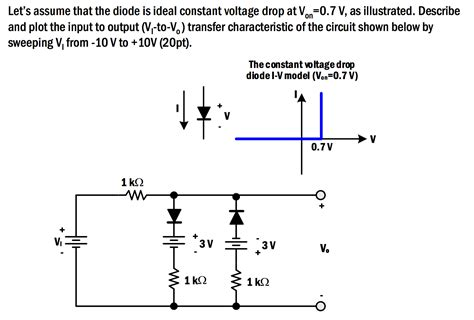 what is a ideal diode let s assume that the diode is ideal constant volt chegg