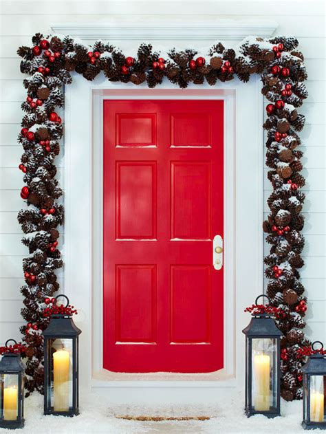 command strips christmas decorating frontdoor garland save money by creating your own outdoor decorations diy projects