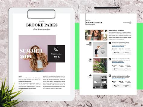 Media Kit For Instagram Stockindesign Instagram Media Kit Template