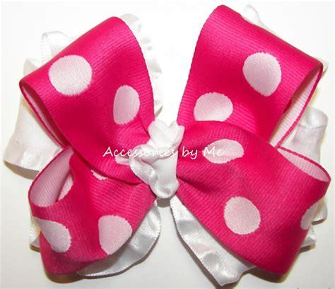 valentines hair bows hair bows valentines day polka dot ruffle hair