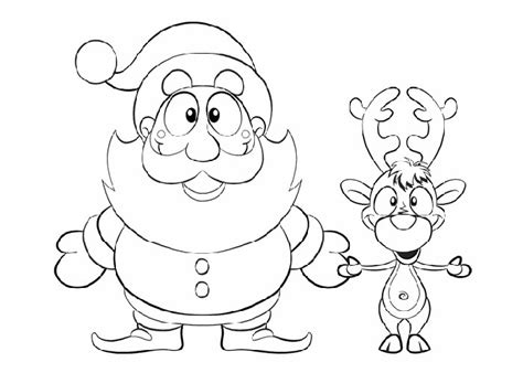 free coloring pages of baby rudolph