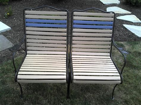 Vinyl Straps For Patio Furniture Helen Raines From Maryland Used Our 1 5 Quot Precut Vinyl Straps On Woodard Patio Furniture