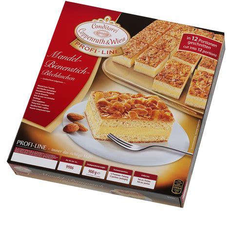 profi kuchen profi line mandel bienenstich blechkuchen 900 gramm