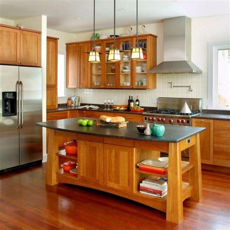 Kitchen Island Cherry Wood surfers end kitchen craftsman kitchen new york by