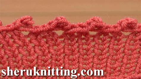 picot edge knitting picot edge bind cast tutorial 7 method 8 of 12