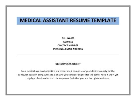 medical assistant resume pediatric medical assistant resume tips