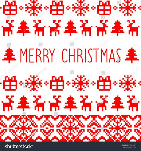 merry christmas pattern vector vector knitted christmas seamless pattern card stock