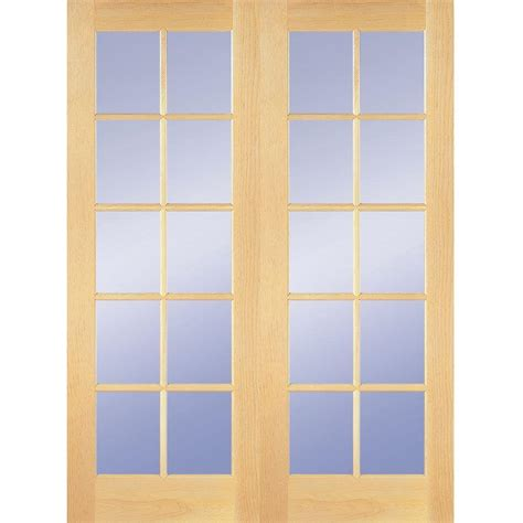home depot doors interior wood builder s choice 48 in x 80 in 10 lite clear wood pine