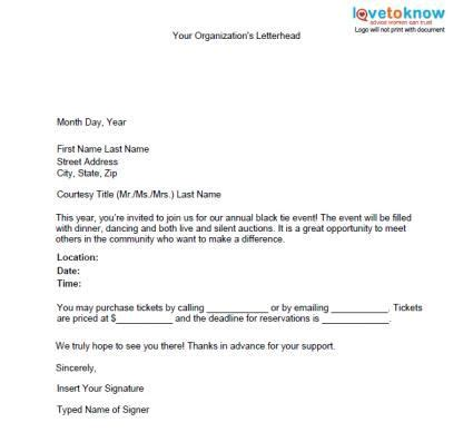 charity letter for an event special event promotion letter fashionko