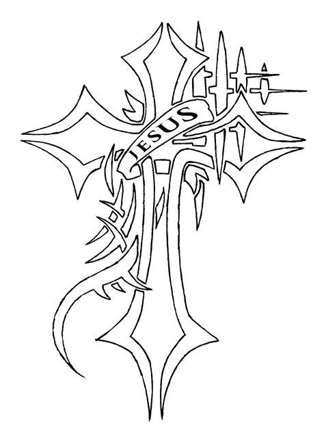 cross tattoo line art jesus cross tattoo request ver 1 line by waruijanai