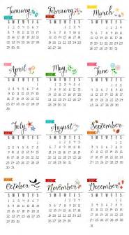 Pinterest 2017 by Free Printable 2017 Calendar Clean And Scentsible