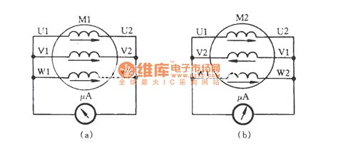 three phase motor winding diagram three phase motor winding connection check circuit