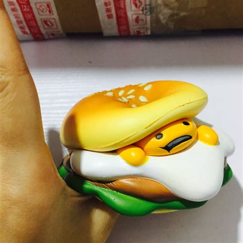 Gudetama Pink Burger Squishy rising gudetama burger squishy mascot on storenvy