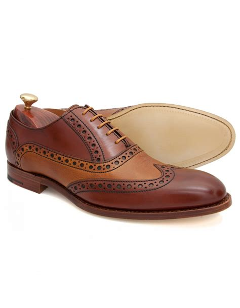 barker oxford shoes barker grant rosewood and cedar brogue oxford lace shoes