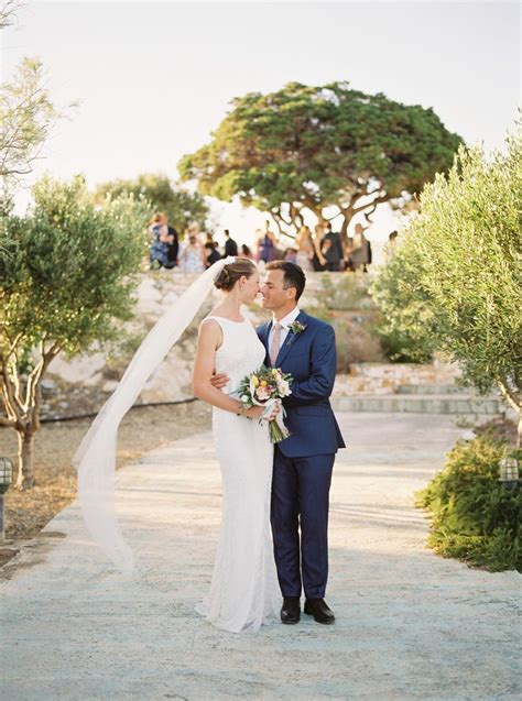 Relaxed & Colorful Greek Island Destination Wedding