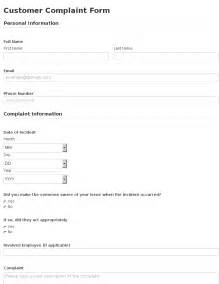 Customer Complaint Procedure Template by Business Form Template Gallery