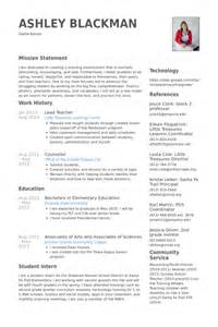 Lead Instructor Sle Resume by Lead Resume Sles Visualcv Resume Sles Database