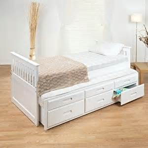 Single Bed Frames With Storage Uk Single Captain Storage Bed Frame With Trundle Finish