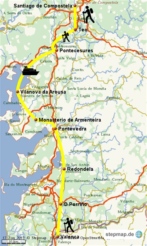 camino portugues camino portugues 2 2 konstroffer landkarte f 252 r die welt