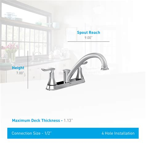 moen solidad kitchen faucet moen 87302 chrome kitchen faucet with side spray from the
