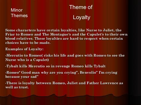 themes of romeo and juliet powerpoint romeo and juliet powerpoint