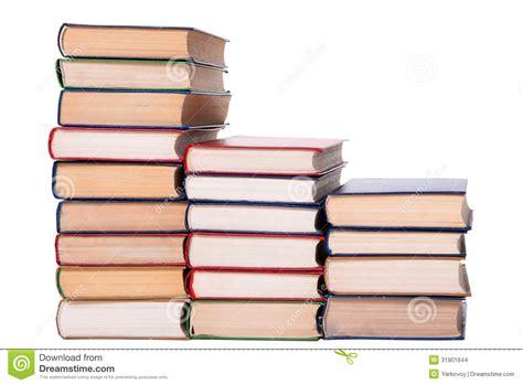 Di Limbro Pila Di Libri Multicolore Isolata Su Fondo Bianco