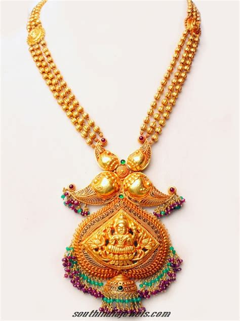 antique gold temple jewellery necklace set south india