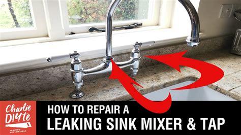 repair  kitchen sink mixer dripping tap youtube